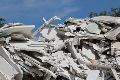 Foto zur Meldung: Entsorgung von Gipsplatten geht neue Wege