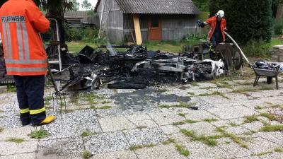 Einsatz Wohnwagenbrand