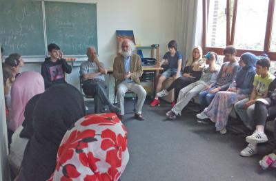 Foto zur Meldung: Imam Abu Ahmad Yakobi und Pastor Willfrid Knees machen Religion zum Thema