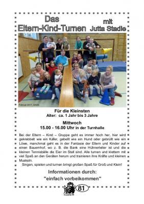 Foto zur Meldung: TSV Selk Sportangebot: Eltern-Kind-Turnen 1-3 Jahre