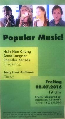 """Foto zur Meldung: Band """"kellerrock@kms"""" besucht Musikabend im Konservatorium Schwerin"""