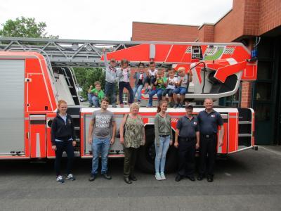 Foto zur Meldung: Brandschutzerziehung KiTa Oberneisen am 15.07.2016