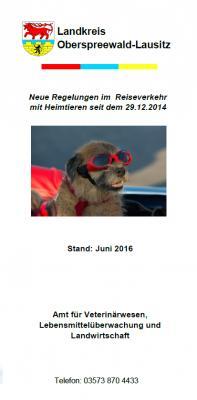 Foto zur Meldung: Mit Fiffi auf Reisen - Hinweise aus dem Veterinäramt OSL