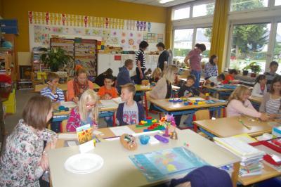 Foto zur Meldung: Seminar der Realschule Wunsiedel zu Gast in Röslau