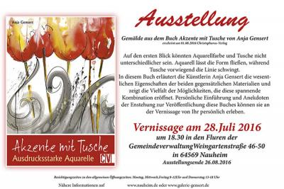 """Foto zur Meldung: Vernissage und Ausstellung """"Akzente mit Tusche"""""""
