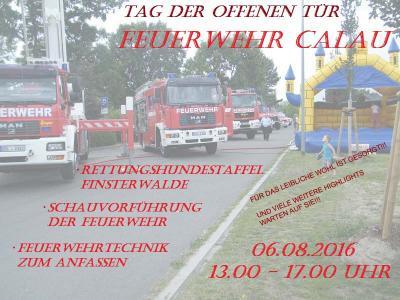 Foto zur Meldung: Tag der offenen Tür der Feuerwehr Calau