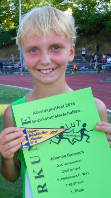Foto zur Meldung: Unterfränkische Meisterschaften lange Bahnläufe