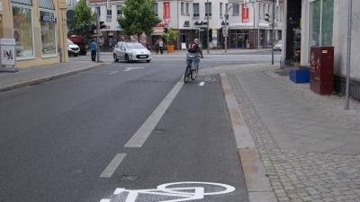 Foto zu Meldung: Neue Markierungen für den Radverkehr schaffen Klarheit