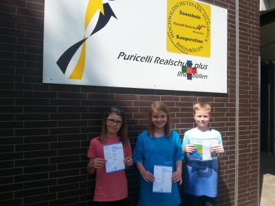 Foto zur Meldung: Fünftklässlerin Tamara Hack der Puricelli Realschule plus gewinnt Känguru der Mathematik