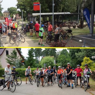 Foto zur Meldung: Halbzeit bei Rehfelder Radel Tour