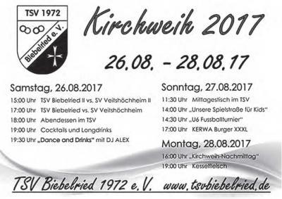 Vorschaubild zur Meldung: Einladung zur Kirchweih 2017