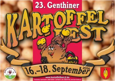 Foto zur Meldung: 23. Genthiner Kartoffelfest vom 16. bis 18. September 2016