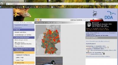 "Foto zur Meldung: ""www.ornitho.de"" gestartet"