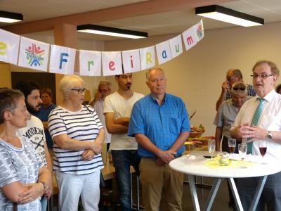 Foto zu Meldung: Integration durch Begegnung - Café FreiRaum offiziell eröffnet