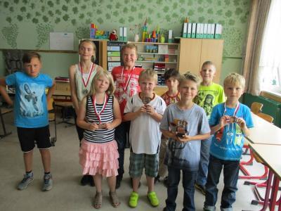 Foto zur Meldung: Viel Spaß beim Schachspiel in der Grundschule