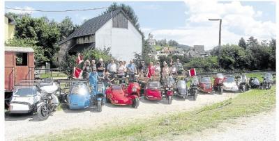 Foto zur Meldung: Im Aartal Motorräder gegen Handhebeldraisinen getauscht