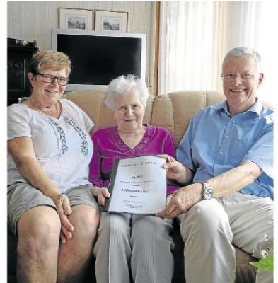 Foto zur Meldung: Hildegard Puchtler seit 75 Jahren im TVO