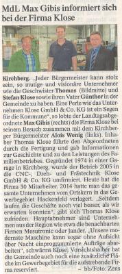 Auszug Der Bayerwald Bote 11.08.2016