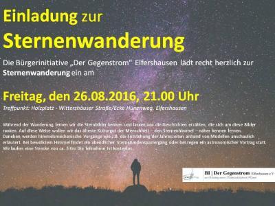 Foto zur Meldung: Einladung zur Sternenwanderung am 26.08.2016