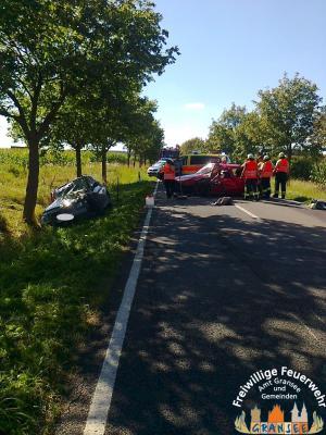 Foto zu Meldung: 2 Verletzte nach Verkehrsunfall zwischen zwei PKW