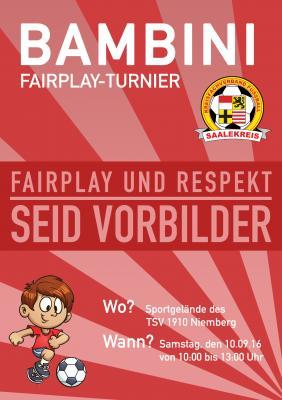 Foto zur Meldung: Mitteilung Jugendausschuss: Bambini-Fair-Play-Turnier
