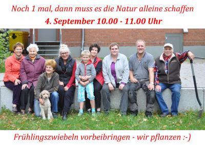 Foto zur Meldung: Gross Laasch Flexibel e.V. - 4.9.2016 - Pflanzaktion auf dem Karl-Moltmann-Platz