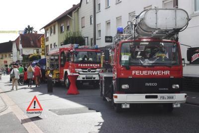 Foto zur Meldung: Straße der Feuerwehr am Gasse-Määrt