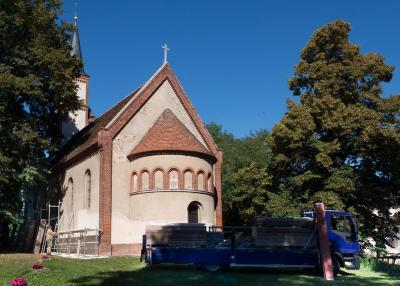 Foto zur Meldung: Fortsetzung der Kirchensanierung in Butzow