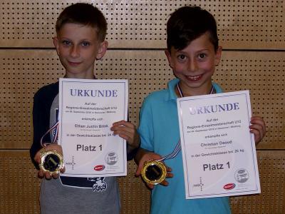 Foto zur Meldung: Zweimal Gold auf der Regions-Einzel-Meisterschaft U12