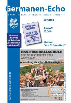 Foto zur Meldung: Ausgabe Nr.1 Saison 2016/17 – TSV Winsen/ Luhe 14.08.2016