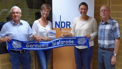 Am 9. August zwischen 12 und 13 Uhr unterhielten sich Günter Strube, Susanne Müller und Klaus Müller mit Moderatorin Martina Gilica über die Arbeit bei Germania Walsrode.