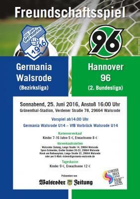 Foto zur Meldung: Hannover 96 zu Gast bei Germania Walsrode