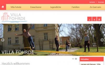 Foto zur Meldung: Villa freut sich über neue Homepage
