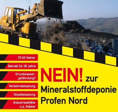 Vorschaubild zur Meldung: NEIN!  - zur Mineralstoffdeponie Profen Nord  !SPENDENAUFRUF!