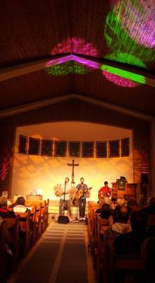 Das Lichtfeld-Trio beim Konzert in der Scharbeutzer Strandkirche- Schön war's!