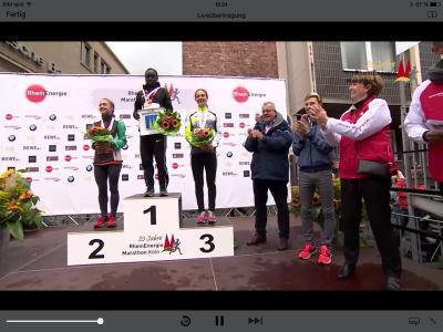 Foto zur Meldung: Maike Schön Zweite beim Köln-Marathon - Glänzende Leistungen der LAZ-Athleten