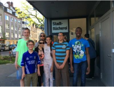 Foto zur Meldung: Besuch der Stadtbücherei Flingern