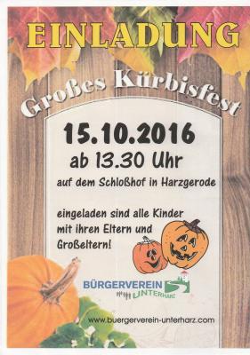 Foto zu Meldung: Kürbisfest am 15.10.2016