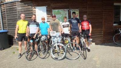 Foto zur Meldung: MTV Radsportler beim Einzelzeitfahren in Hösseringen