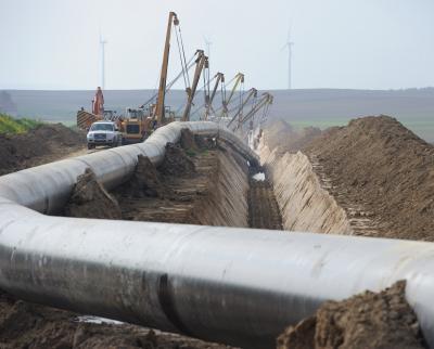 Foto zu Meldung: Gasleitung wird gebaut