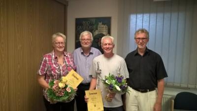 Foto zu Meldung: Rat Grafhorst ehrt ausscheidende Ratsmitglieder