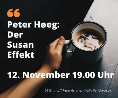 Foto zur Meldung: Peter Høeg liest in der Villa Fohrde