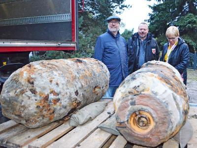 Foto zu Meldung: Zwei 500 Kilogramm-Bomben »Am Alten Hafen« in Lehnitz erfolgreich entschärft