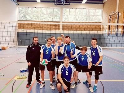 Foto zur Meldung: Volleyball-Männer holen 6 Punkte nach Hause