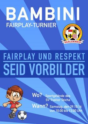 Foto zur Meldung: Mitteilung Jugendausschuss: 2. Bambini-Fair-Play-Turnier