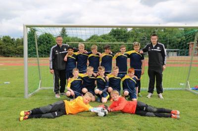Foto zur Meldung: U12 - Junioren - Starker Auftritt mit Kreisauswahl