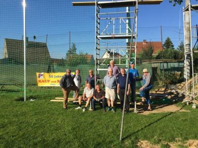Foto zur Meldung: Neuer Ballfangzaun für den B-Platz