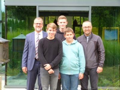 Foto zur Meldung: B-Junioren der SG Nammering im Audi-Sportpark Ingolstadt