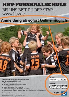 Foto zur Meldung: HSV Fussballschule - Termin 2016 -