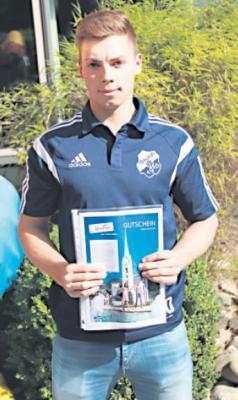 Foto zur Meldung: II. Herren - Marek Thom gewinnt Team-Reise